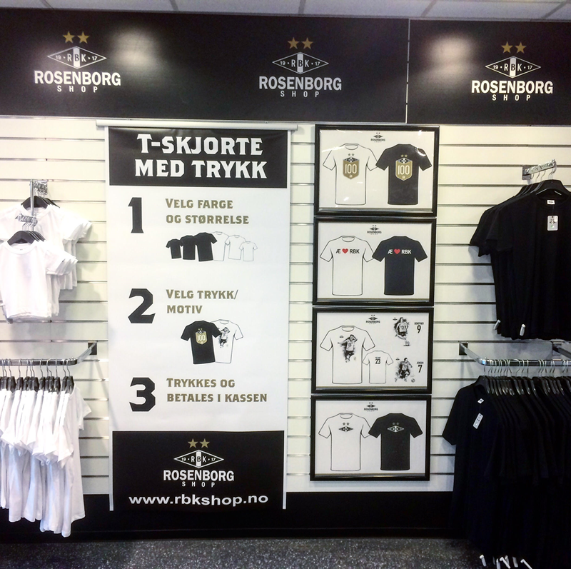 3d4bd099 I butikken på Lerkendal kan du velge mellom en mengde t-skjortemotiv. Vi  trykker det motivet du ønsker. Du finner også motivene her i nettbutikken.